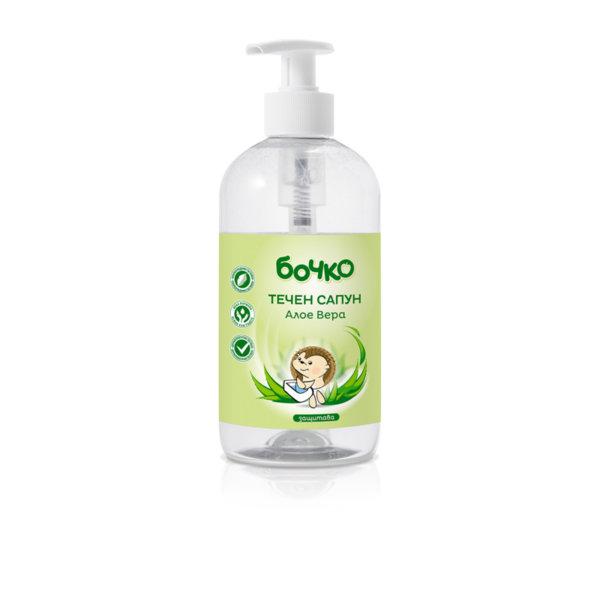 Бочко Бебешки течен сапун Алое вера  500 мл